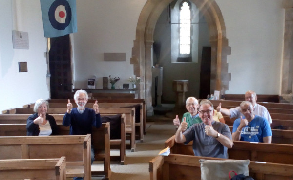Prayer walkers arrive at Scampton Church