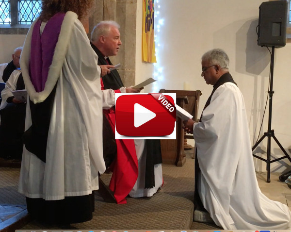 Part of Sebastians induction by the Bishop of Lincoln (click to play)
