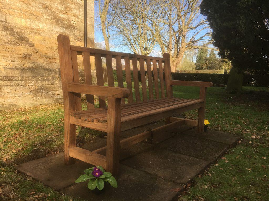 Churchyard bench seat