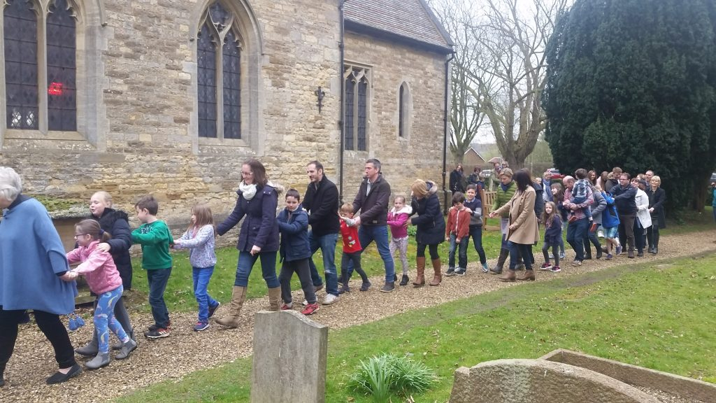 Easter Conga round the church