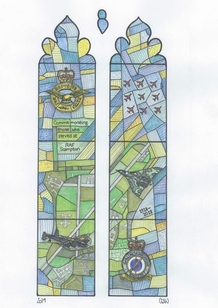 RAF window final sketch colour