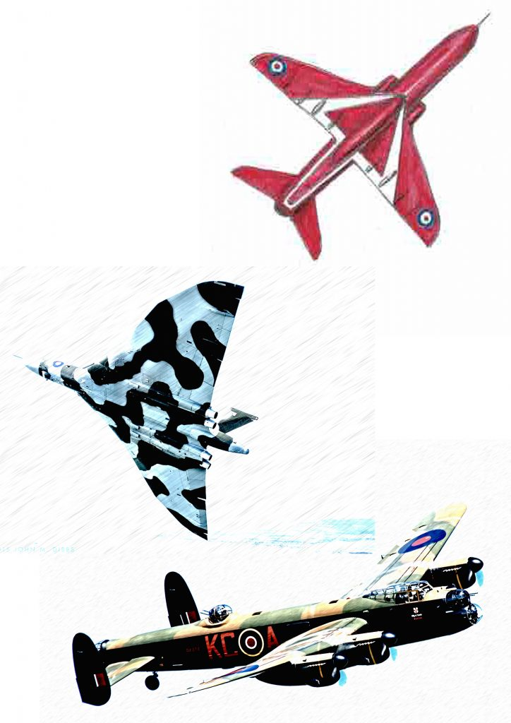 Detais of stained glass window aircraft