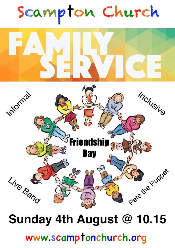 Family service poster August
