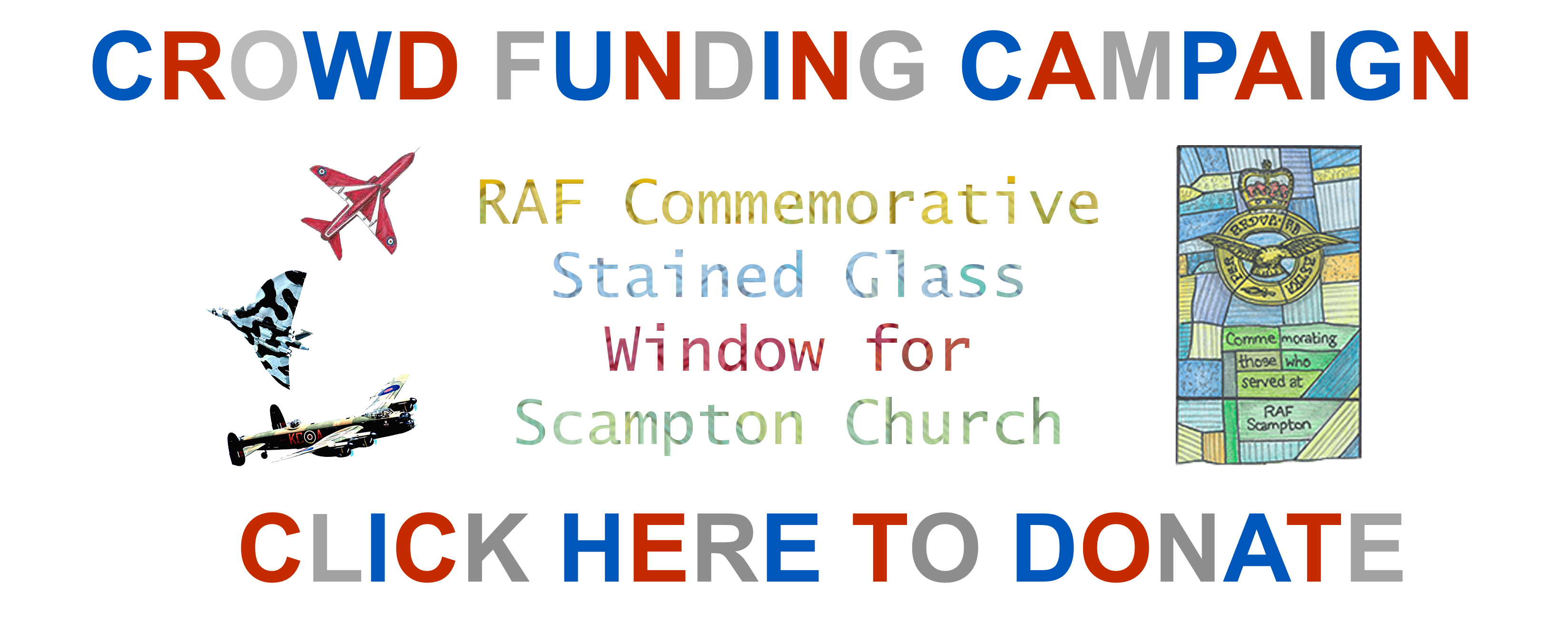 Crowd funding website banner