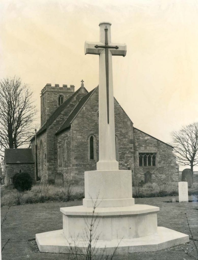 Cross of Sacrifice raised in Scampton Churchyard