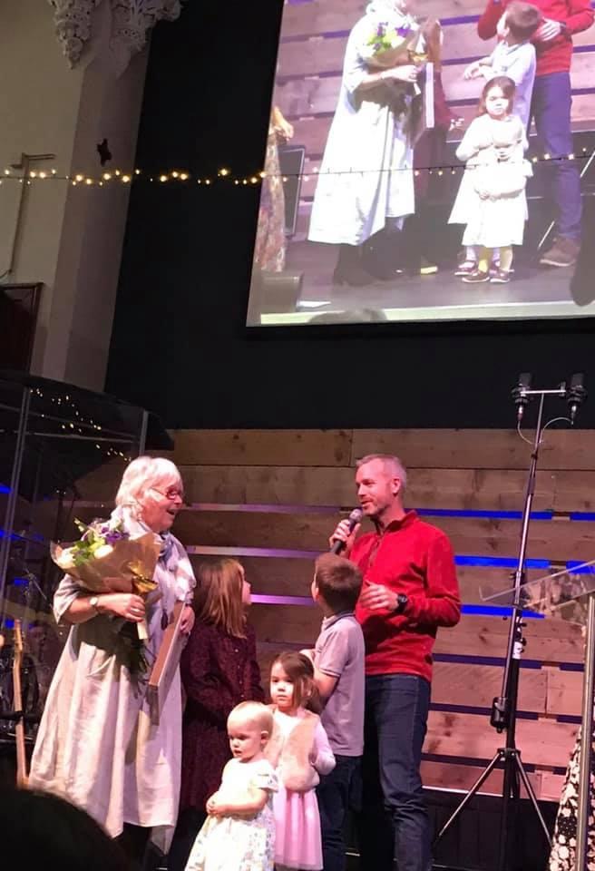 Rev Sue Deacon Wonderous woman award alive church