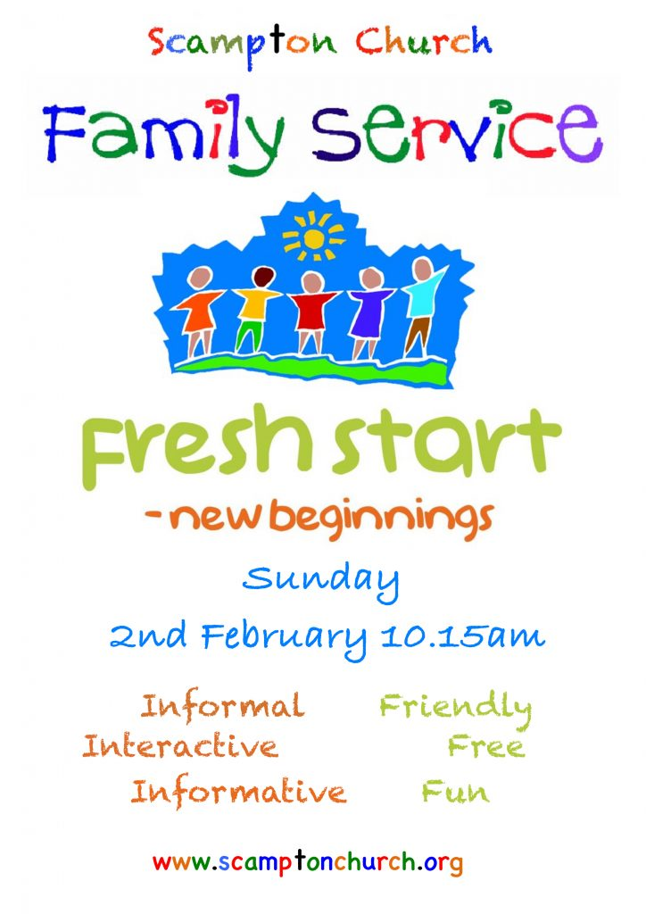 February Family Service Poster
